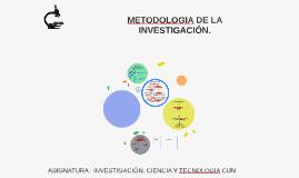 METODOLOGIA DE LA INVESTIGACIÓN.