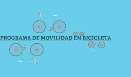 PROGRAMA DE MOVILIDAD EN BICICLETA