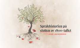 Språkhistorien på slutten av 1800-tallet