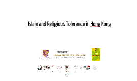 Islam and Religious Tolerance in Hong Kong