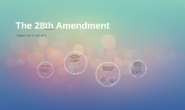 The 28th Amendment