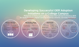 Planning Successful OER Adoption