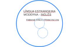 LÍNGUA ESTRANGEIRA MODERNA - INGLÊS