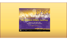 My Student Affairs Journey