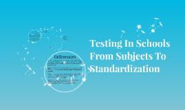 Testing In Schools