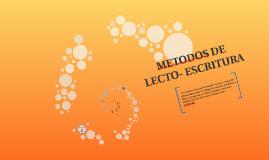 Copy of METODOS DE LECTO- ESCRITURA