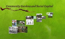Community Gardens and Social Capital