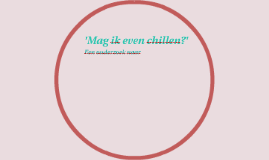 'Mag ik even chillen?'
