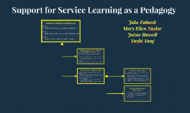 Support for Service Learning as a Pedagogy