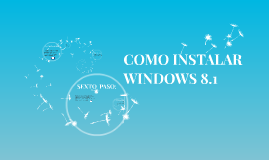 Copy of COMO INSTALAR WINDOWS 8.1