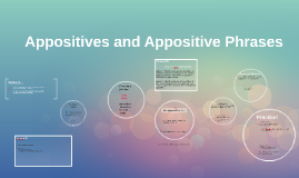 Appositives and Appositive Phrases--pretty simplified