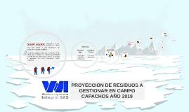 PROYECCIÓN DE RESIDUOS A GESTIONAR AÑO 2019