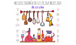 MICROECONOMÍA EN LA COCINA MEXICANA