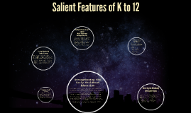 Copy of Copy of Salient Features of K to 12