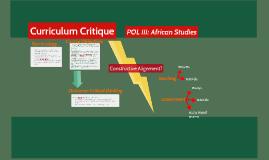 Curriculum Critique