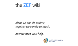 the ZEF wiki