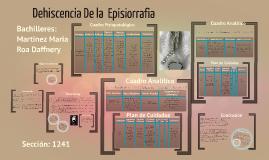 Copy of Dehiscencia en la  Episorrafia