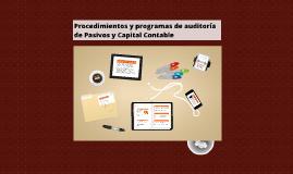 Procedimientos y programas de auditoría de Pasivos y Capital