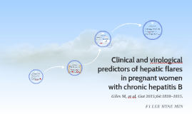 Clinical and virological predictors of hepatic flares