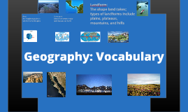 Geography: Basic Vocabulary