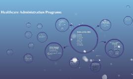 Healthcare Administration Programs