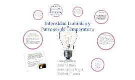 Intensidad Lumínica y Patrones de Temperatura