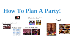 Planning a party!!