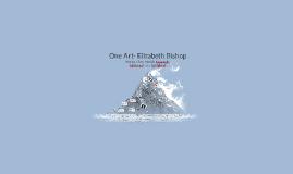One Art- Elizabeth Bishop