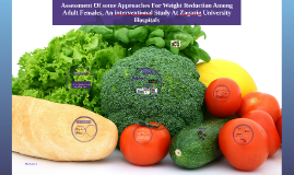 Assessment Of some Approaches For Weight Reduction Among Adu