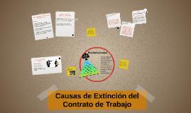 Causas de Extinción del Contrato de Trabajo