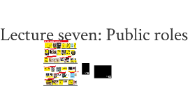 Journalism theory lecture six: public roles