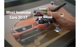 Automóviles mas innovadores  2017