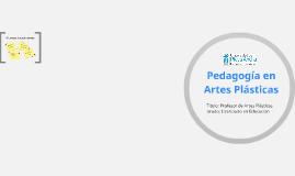PEDAGOGÍA EN ARTES PLÁSTICAS