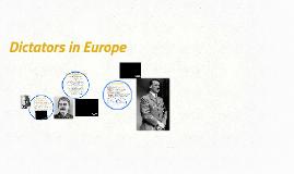 Dictators in Europe (2016-2017)