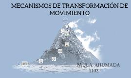 MECANISMOS DE TRANSMISION DE MOVIMIENTO