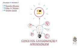 APRENDIZAGEM DE CONCEITOS E CATEGORIZAÇÃO