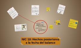 NIC 10: Hechos posteriores a la fecha del balance