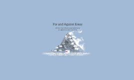 For and Against Essay (Funda)