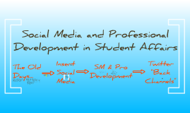 Social Media in Student Affairs Professional Development