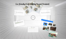 Eco-friendly Craft Activity(Round Pendant)