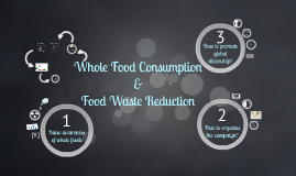 Whole Food Consumption & Food Waste Reduction