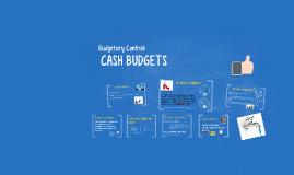 Budgetary Control: CASH BUDGETS