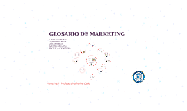GLOSARIO DE MARKETING