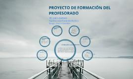 Proyecto de Formación del Profesorado