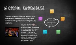 Musical Ensembles
