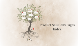 Product Solutions Pages Index
