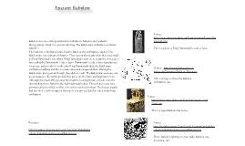 Virtual Exhibit, Babylon