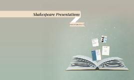 Shakespeare Presentations