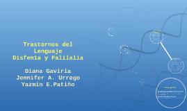 Trastornos del Lenguaje Disfemia y Palilalia