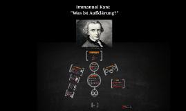 Copy of Immanuel Kant - Was ist Aufklärung?